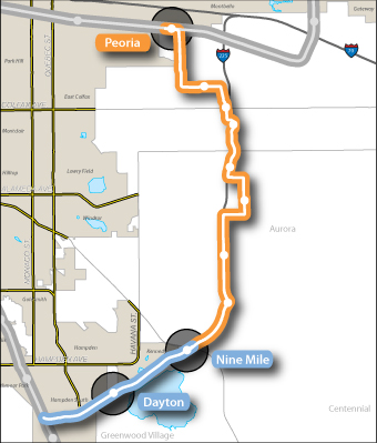 Map of RTD of I-225 corridor