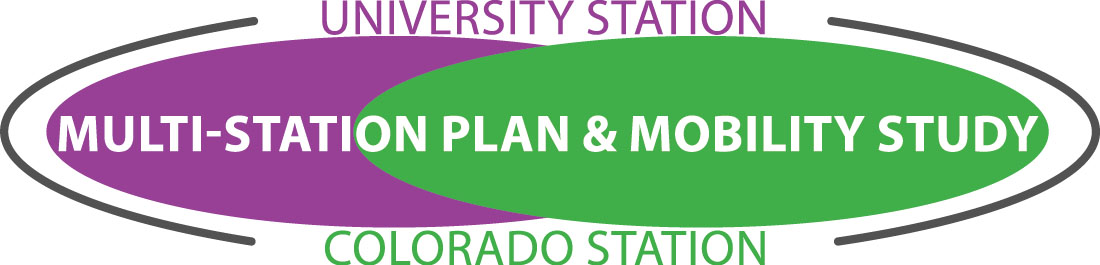 University and Colorado Station Mobility Plan logo, linking to project page