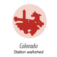 illustration representing walk shed around Colorado Station