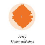 illustration representing walk shed around Perry Station