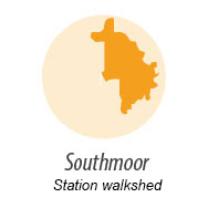 Illustration showing walk shed around Southmoor Station