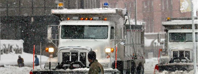 Photo of Denver's snow plows in snow storm