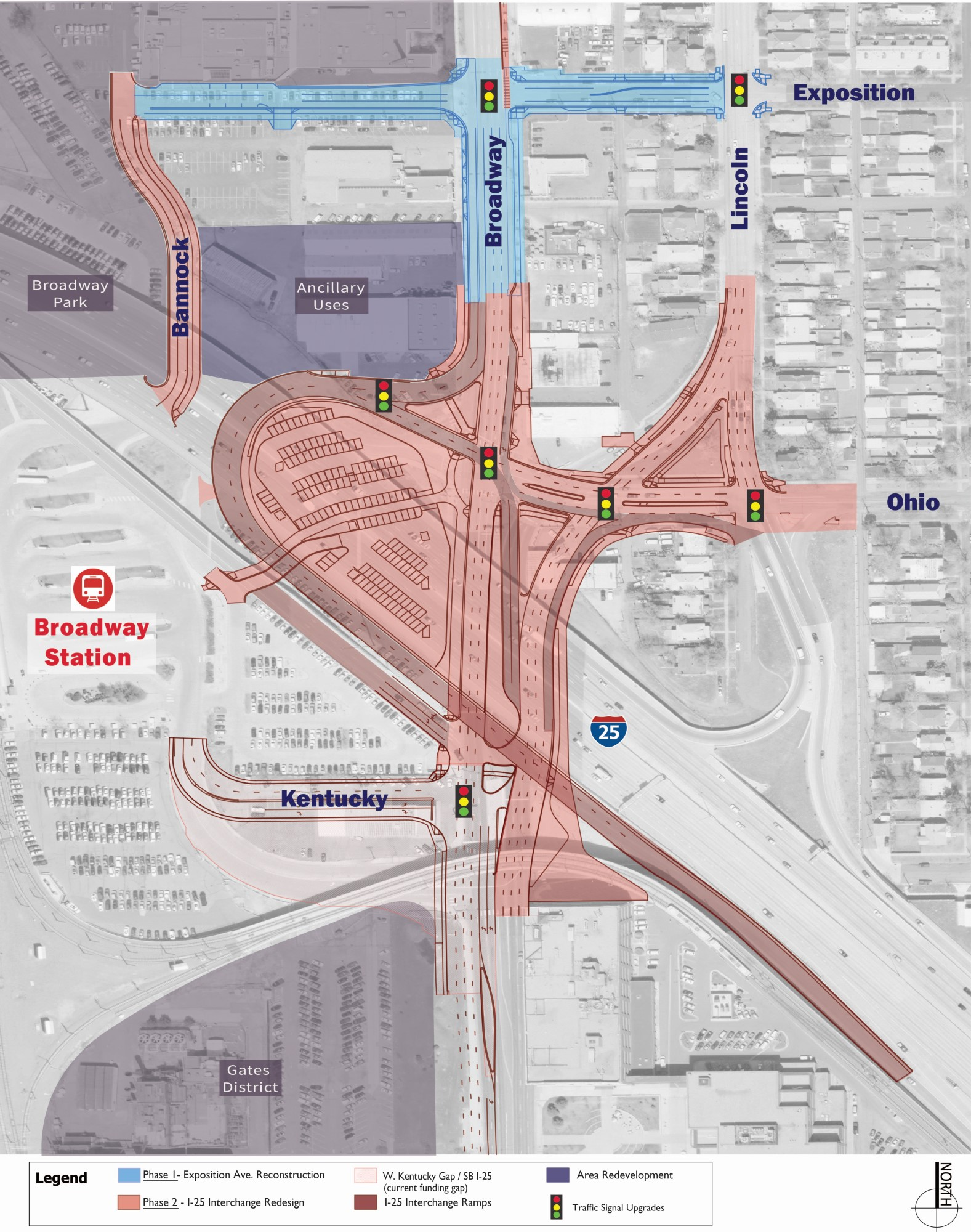 I-25 and South Broadway Improvement Project map