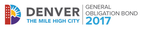 Image of the GO Bond 2017 logo and the City and County of Denver logo