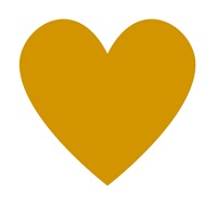 picture of a yellow heart