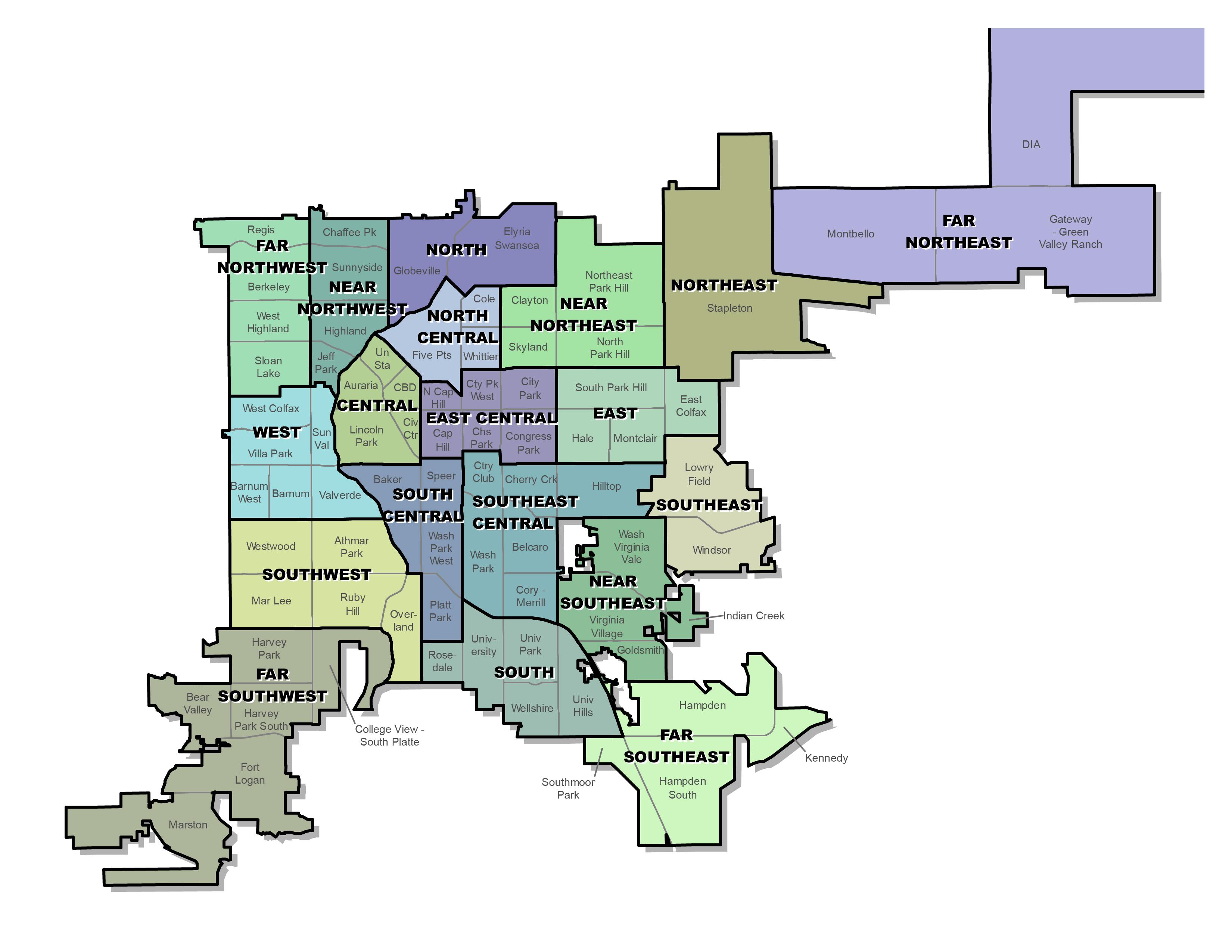 suburbs of denver map Neighborhood Planning
