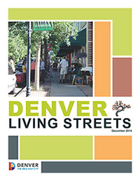 Image of Denver Living Streets report cover, linking to PDF of full report