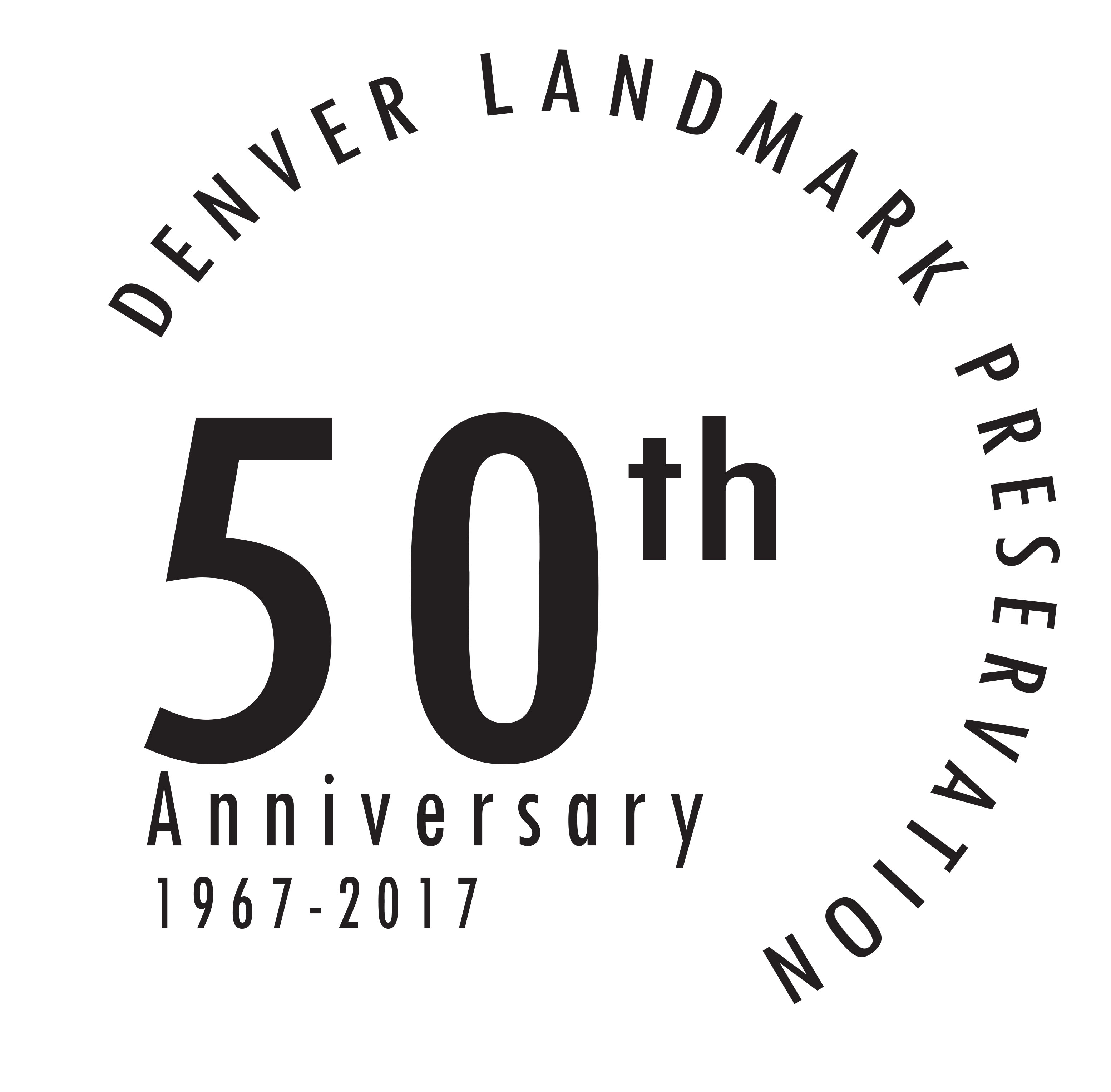 Denver Landmark Preservation 50th anniversary logo