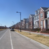 Photo of a development of row homes