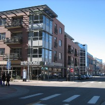 Photo of an urban center neighborhood