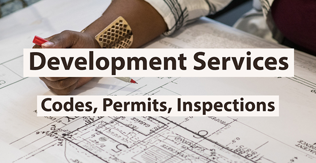 Graphic image linking to Development Services website