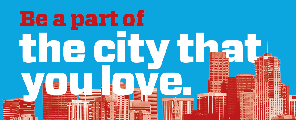Be a Part of the City that you Love graphic banner