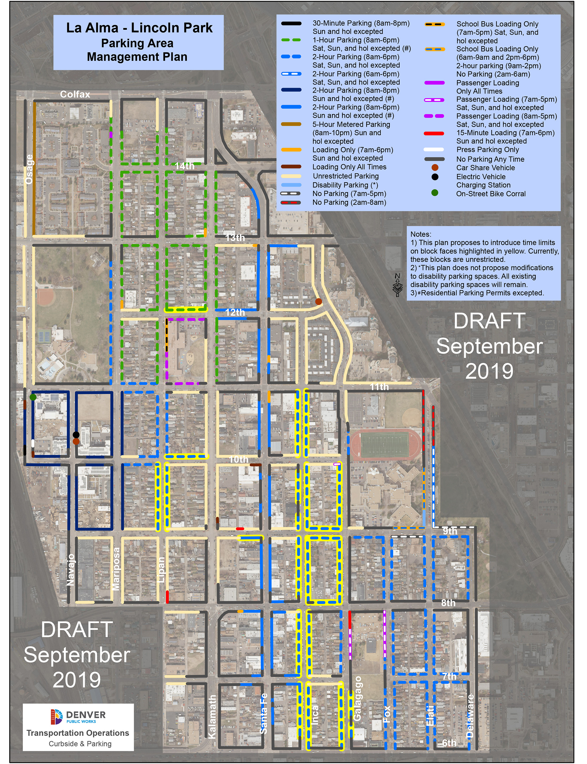 Map of proposed parking plan