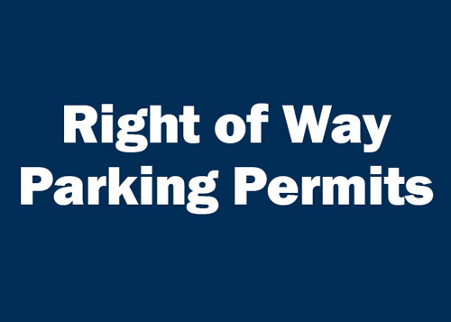 Right of Way Parking Permits