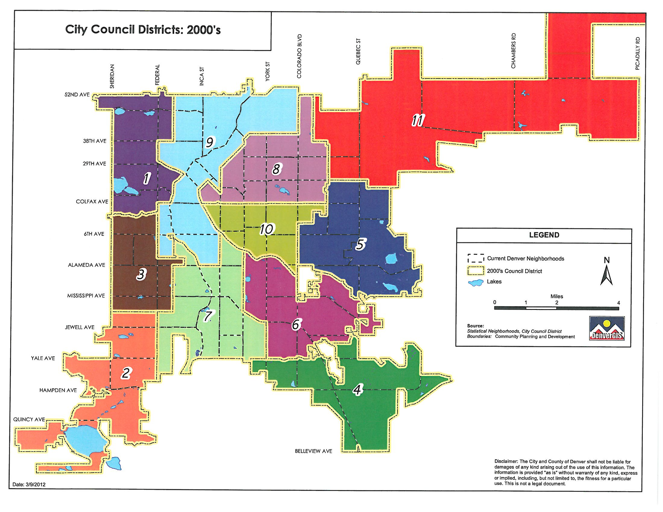 2000's Denver council districts map