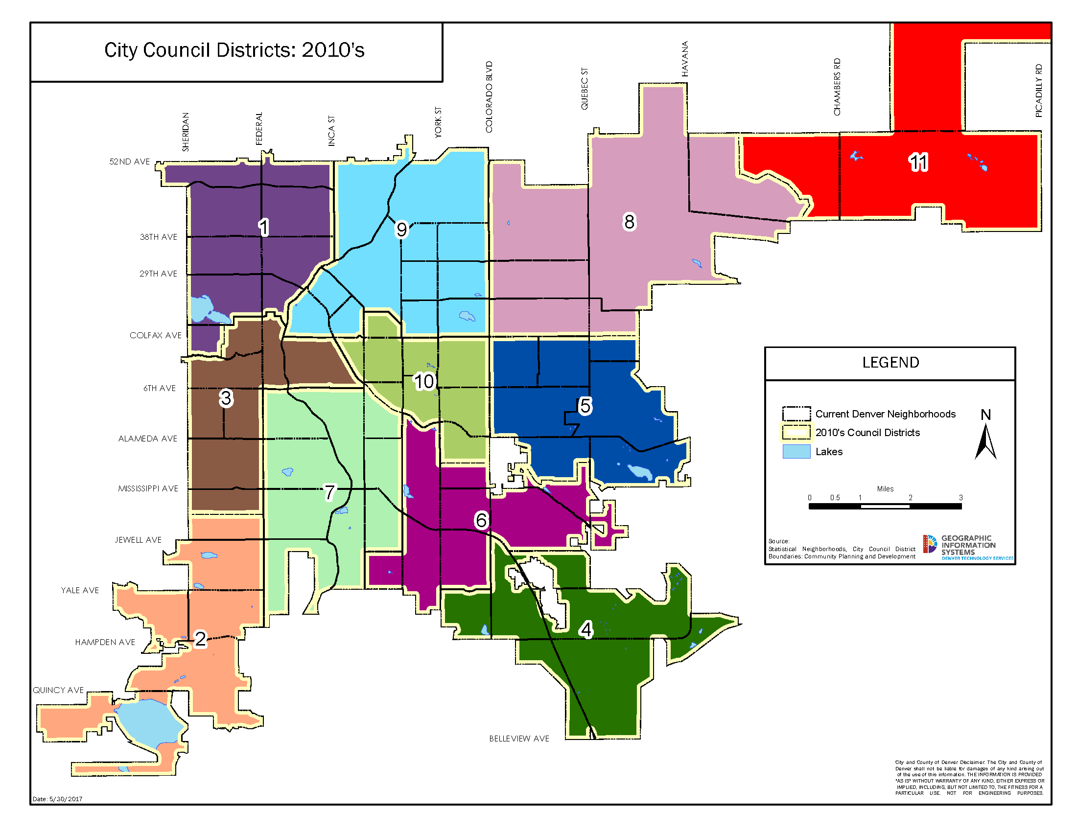 2010 Denver council districts map