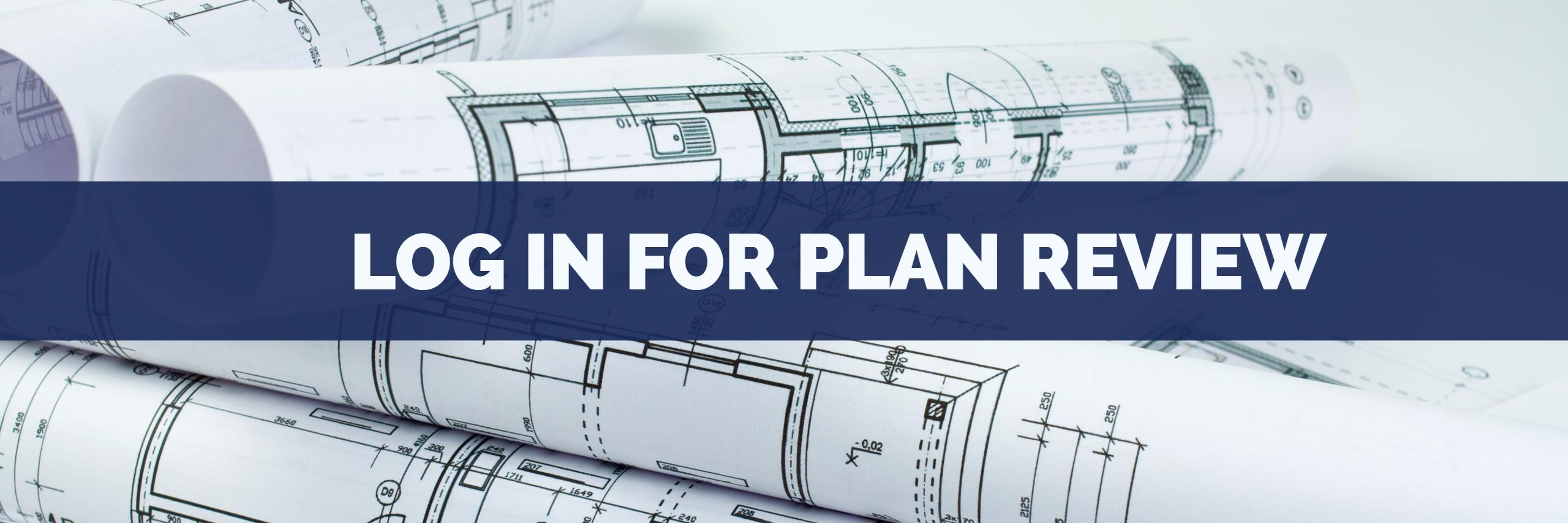 Banner image for the Log In for Plan Review page