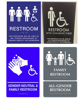 Genderneutral Singleoccupant Restrooms - Gender neutral bathroom signs