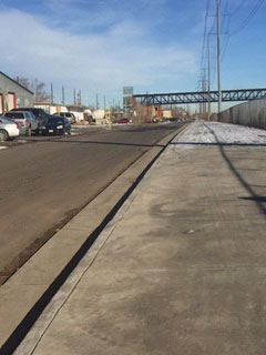 Inca Street path now open, looking north to new RTD station