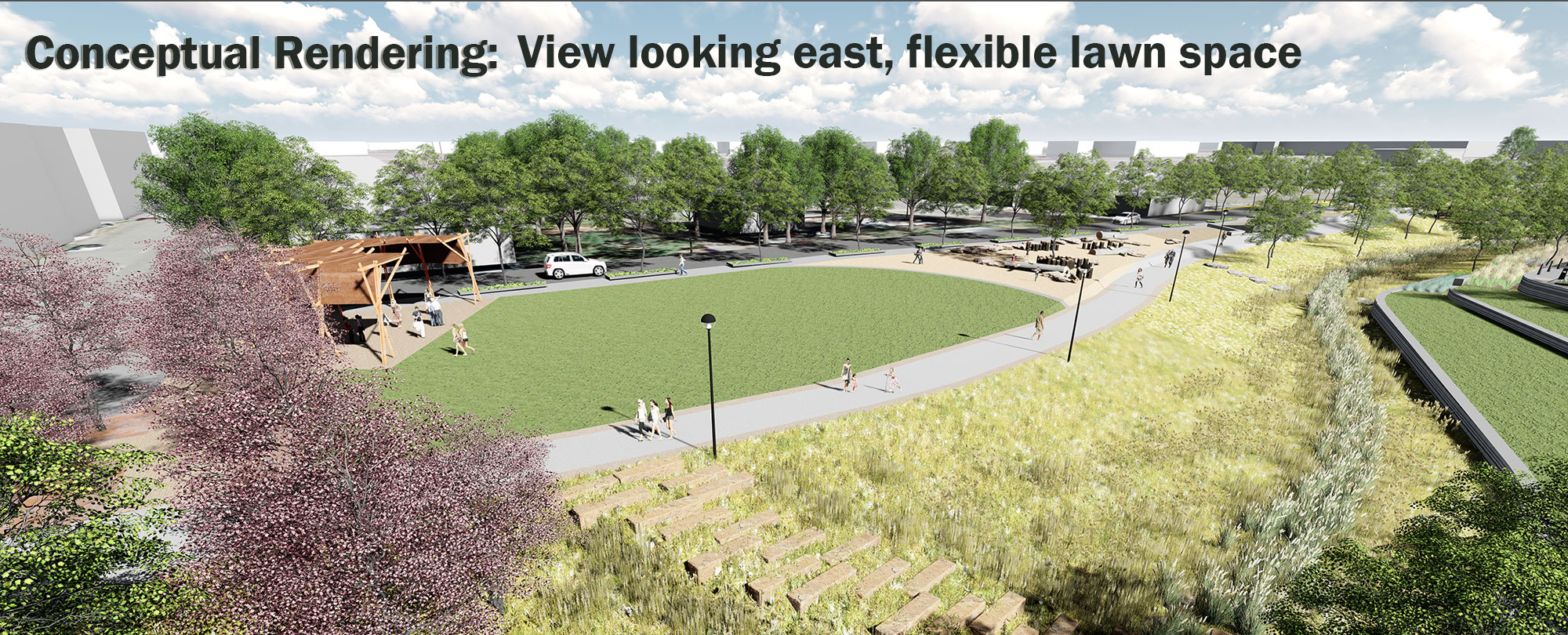 Rendering of greenway