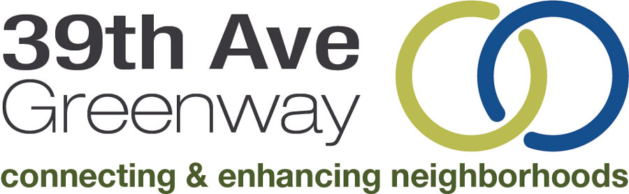 39th Ave Greenway logo: Connecting and Enhancing Neighborhoods