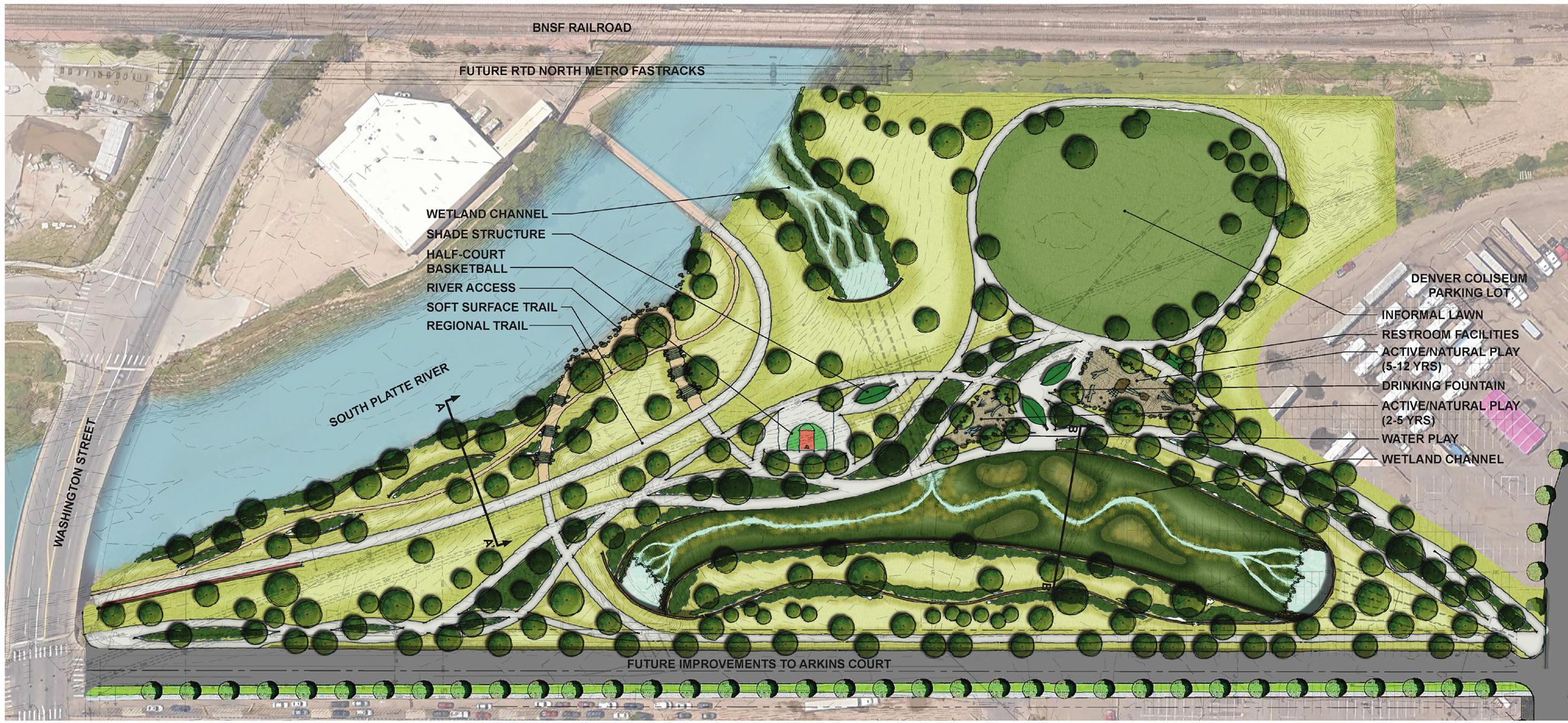 globeville landing park concept designs may 2016 platte to park hill stormwater systems. Black Bedroom Furniture Sets. Home Design Ideas