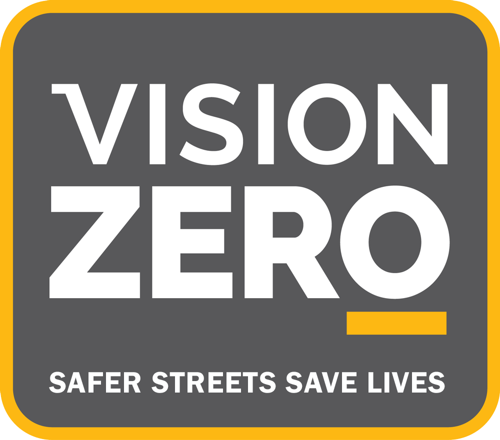 Vision ZERO - Safer Streets Save Lives logo