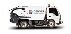 Denver street sweeping truck