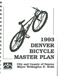 1993 Denver Bicycle Master Plan (cover)