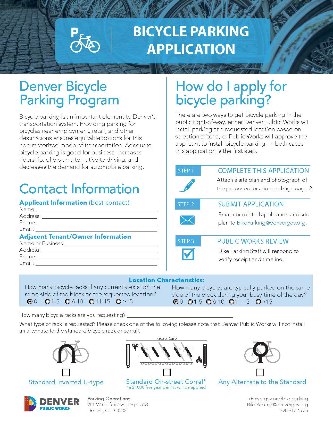 Bike Parking Application (PDF)