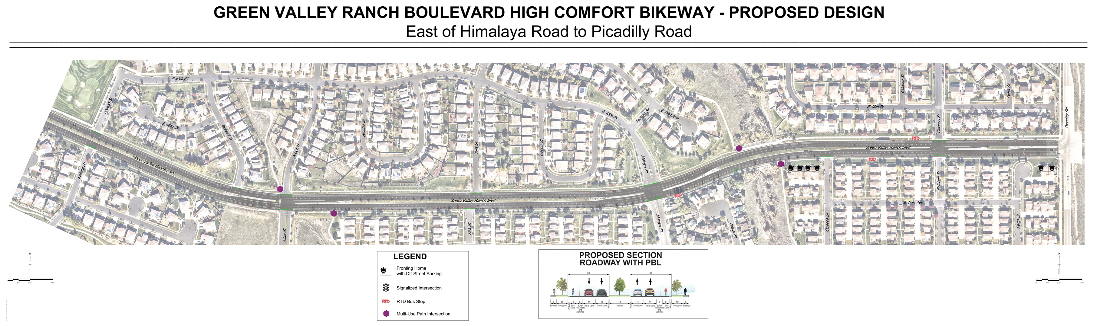 map of eastern half of proposed bikeway