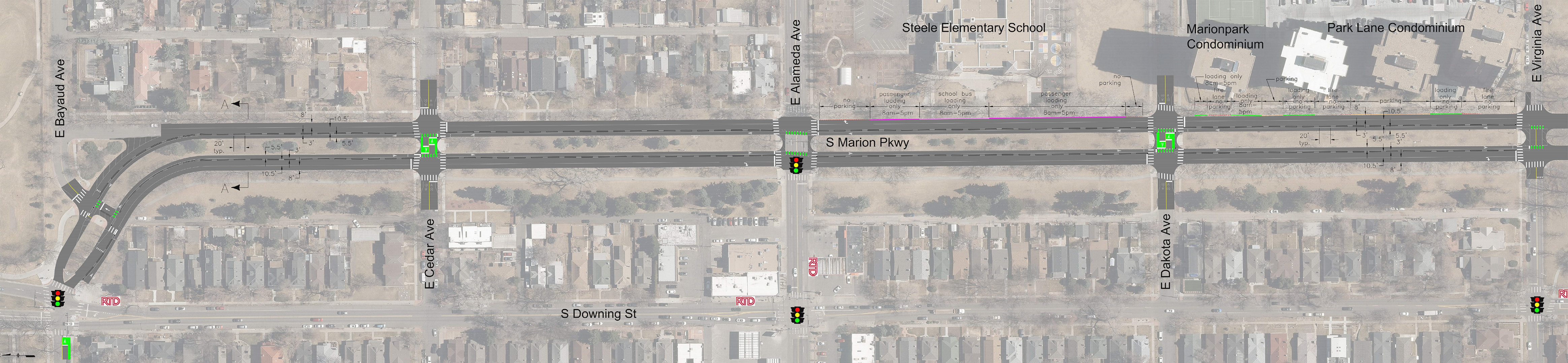 thumbnail image of planned bike installation on Marion Street Parkway