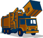 graphic of a trash truck