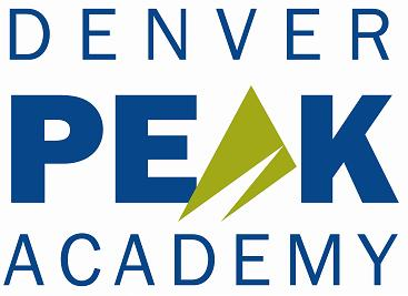 Denver Peak Academy navy blue and spring green logo