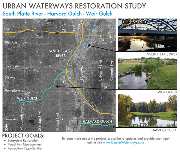 urban waterways restoration study area map