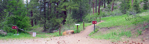 A Denver Mountain Park trail head.
