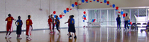 Celebration in a recreation center multi-purpose room