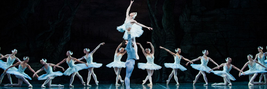 The Colorado Ballet's principal dancers performing Swan Lake.
