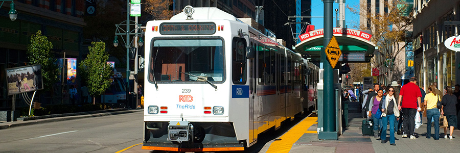 Photo of downtown Denver light rail station