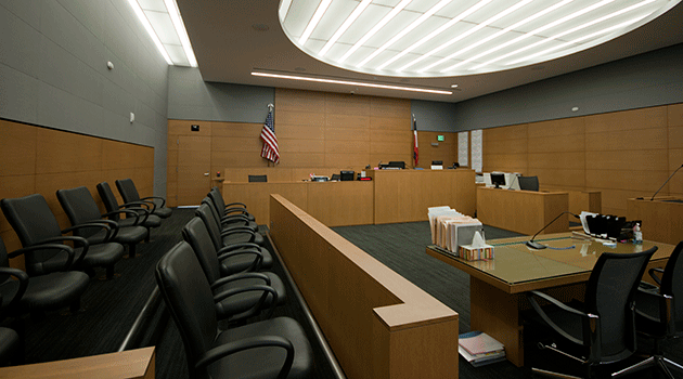 view of courtroom interior
