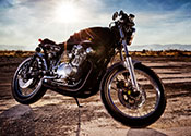photo of motorcycle on sunny morning