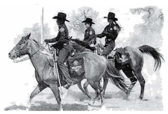 historic illustration of sheriff deputies on horses