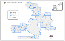 Colorado State Senate Districts Map