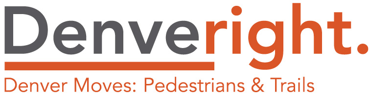 Denveright: Denver Moves Pedestrians and Trails logo