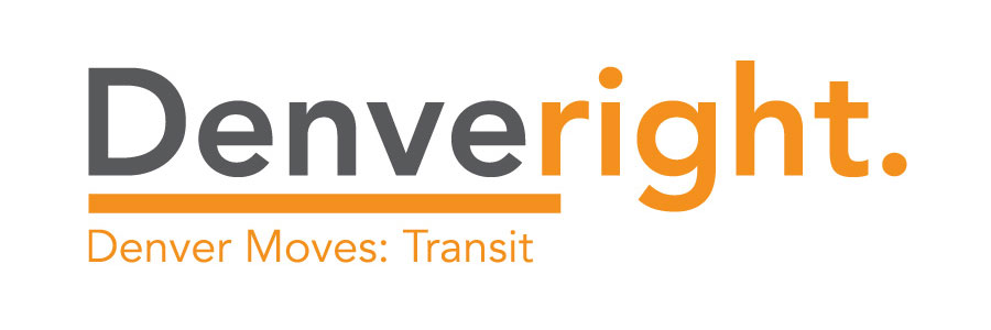 Denver Moves Transit logo and button that links to Transit page