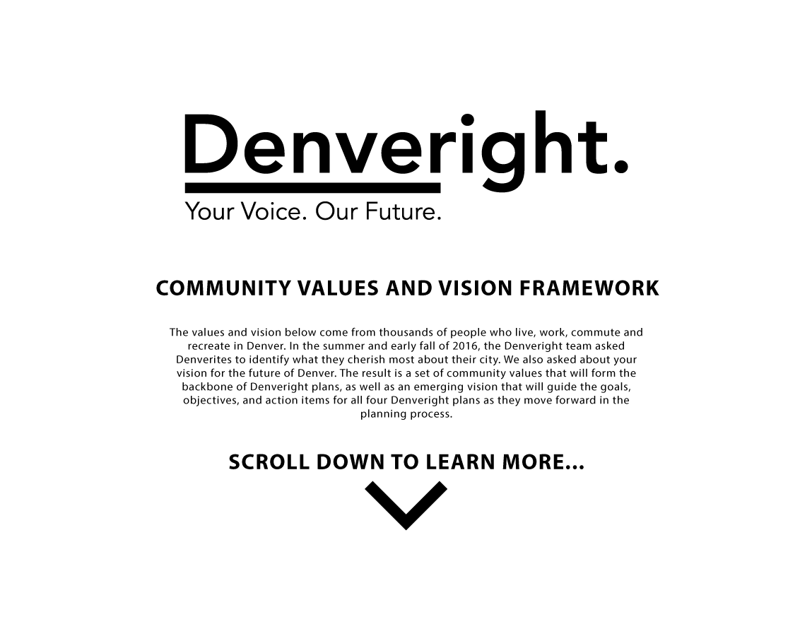Community Values and Vision Framework graphic introduction