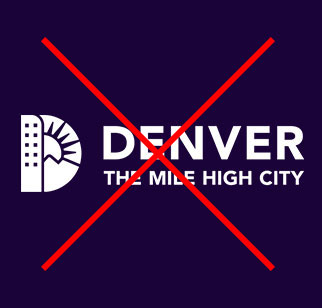 Denver Logo Image with filled in outlines