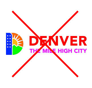 Denver Logo with really bad colors applied to it