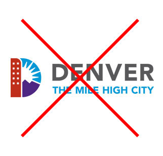 Denver Logo with Sun element missing from D section