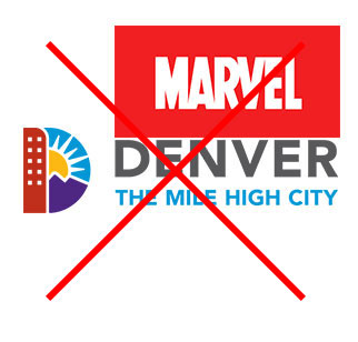Denver logo image with another logo stacked right on top of it